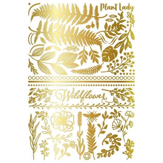 Golden temporary tattoo sheet. The Jungle Collection. Photo