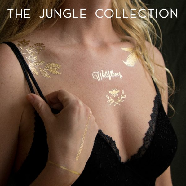 Golden temporary tattoo design. The Jungle Collection. Photo